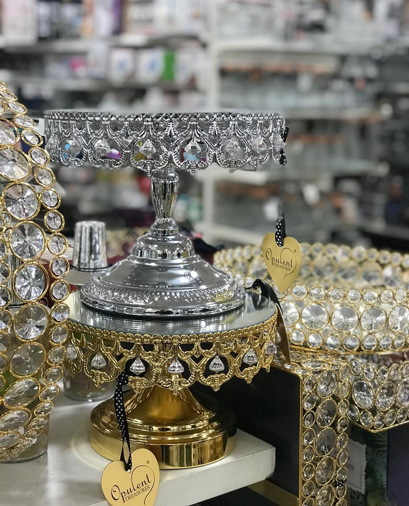 New Shiny Crown Cake Stands @homegoods now!!