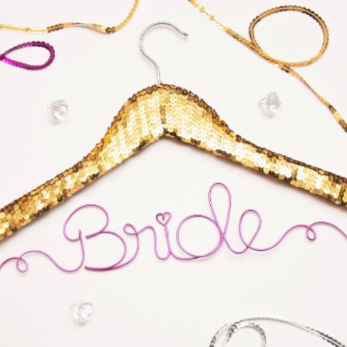 Sequin Wedding Hanger