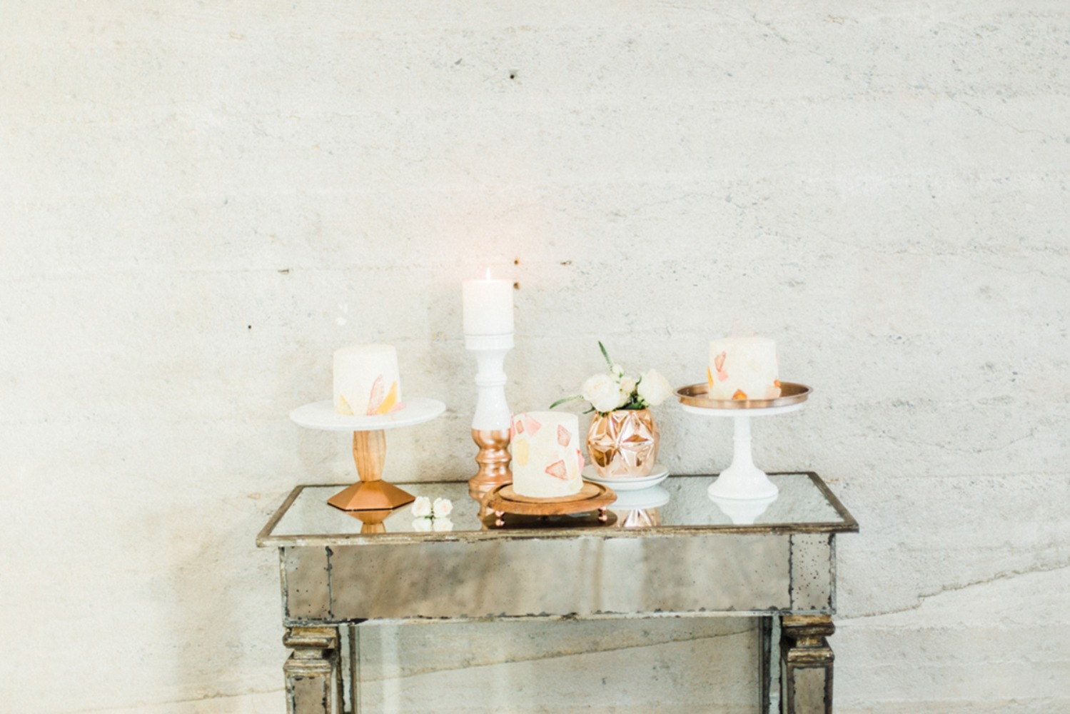 Gallery - A White And Rose Gold Wedding With A Sweet Theme