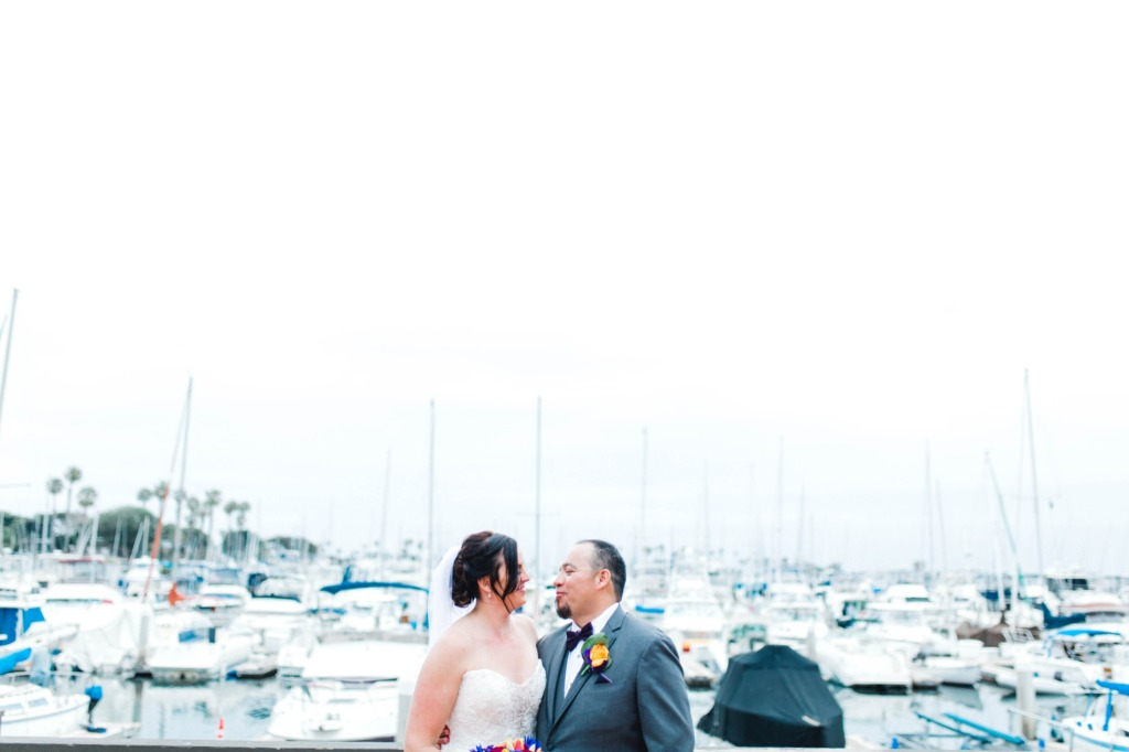 Marina's can make a gorgeous backdrop on a wedding day!