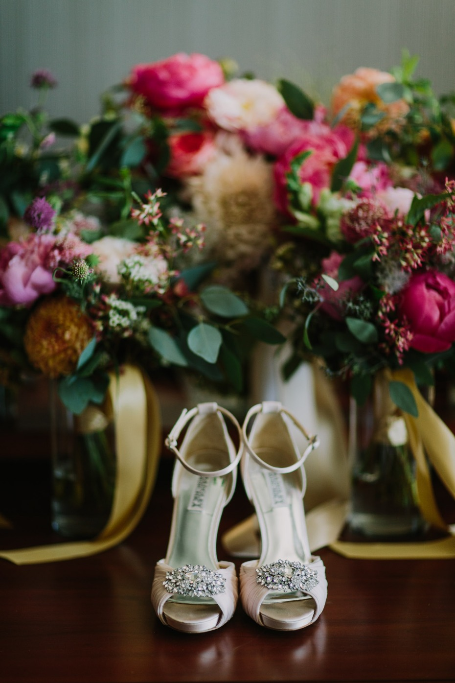 Badgley Mischka heels for the bride